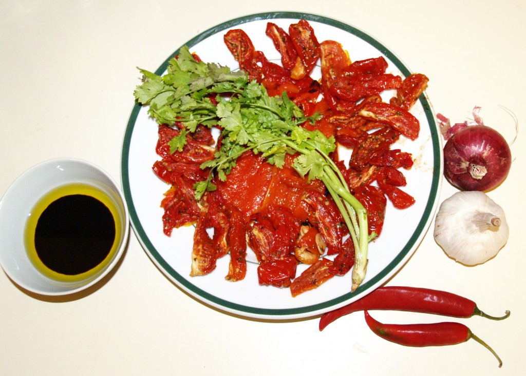 tomato and capsicum